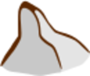 Small Map Mountians Clipart.