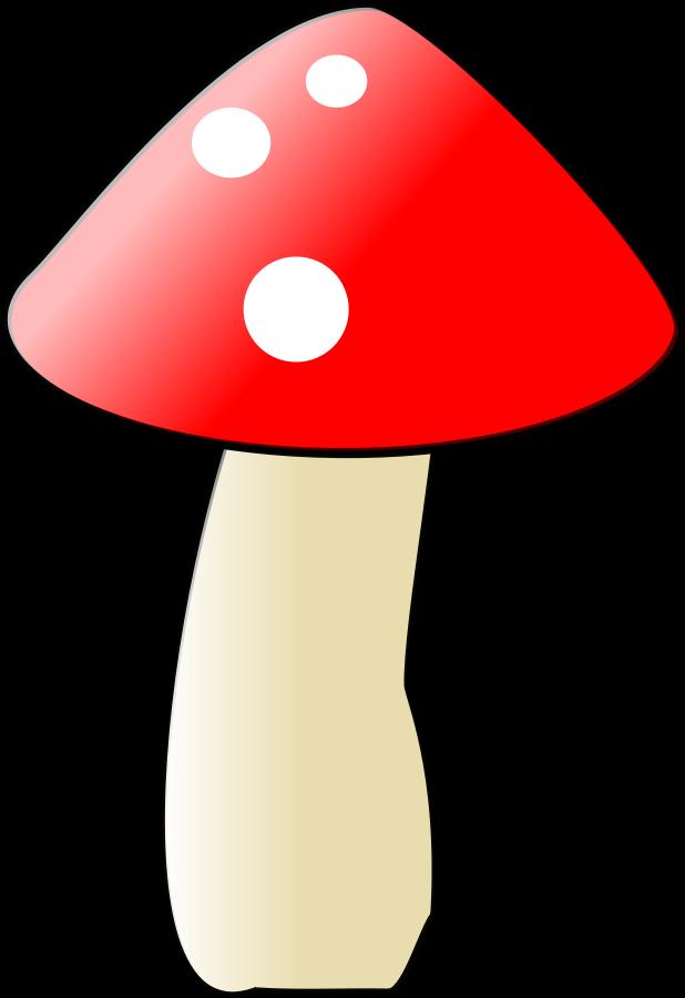 Mushroom small clipart 300pixel size, free design.