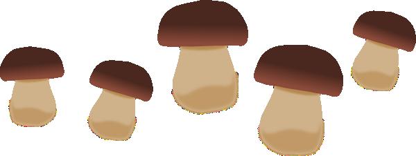 Brown Mushrooms Clip Art at Clker.com.