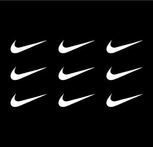 Details about 9 NIKE Swoosh Logo Vinyl Decals Phone Laptop Helmet Sheet of  Small NIKE Stickers.