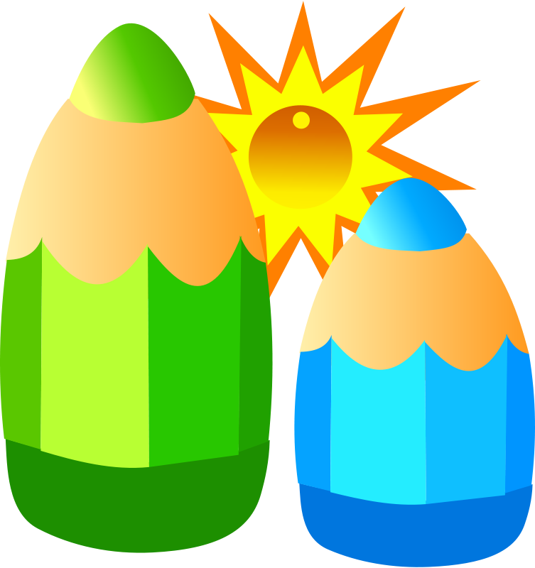 Big and small objects clipart.