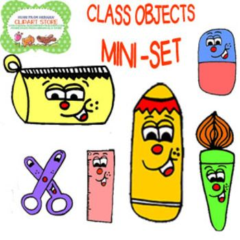 FREE Class Objects Small Clipart set for Personal and Commercial.