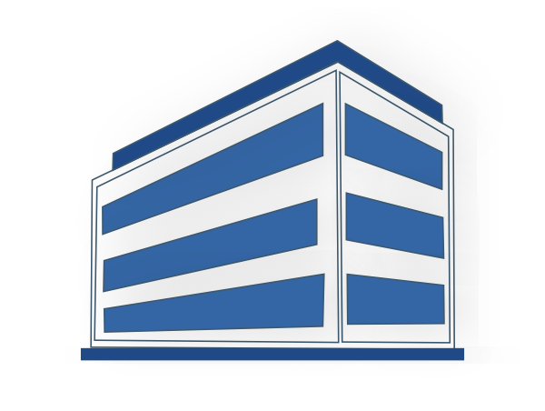 White And Blue Office Building Clip Art at Clker.com.
