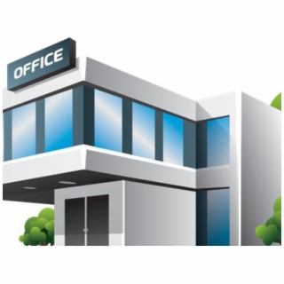 Free Office Building PNG Image, Transparent Office Building.