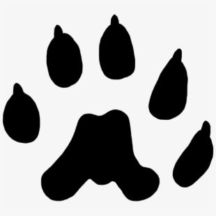 Weasel Paw Print 12 Mm, Paw Prints Clipart.