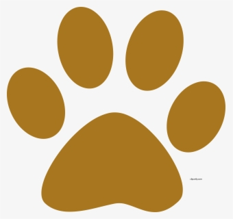 Free Dog Paw Print Clip Art with No Background.