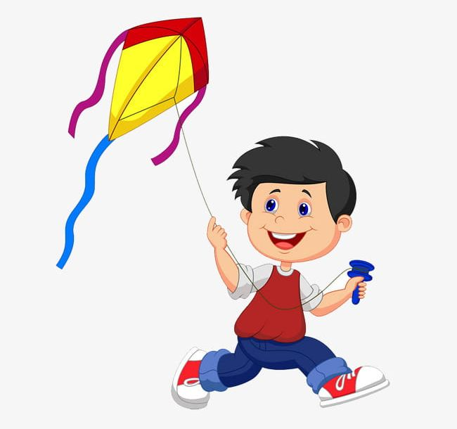 Small People Flying Kite Material Free To Pull PNG, Clipart.
