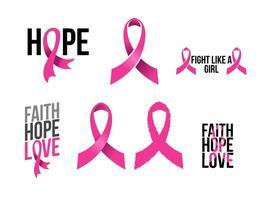 Pink Ribbon Free Vector Art.