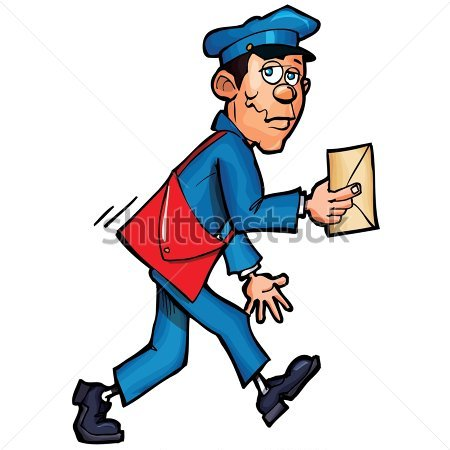 Mail Lady Clipart.