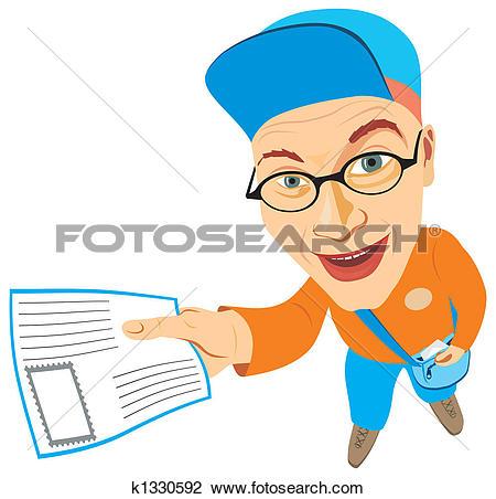 Clip Art of mailman k1330592.