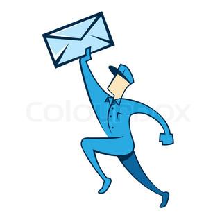 Postman delivering mail.