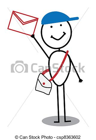 Vector Illustration of postman.