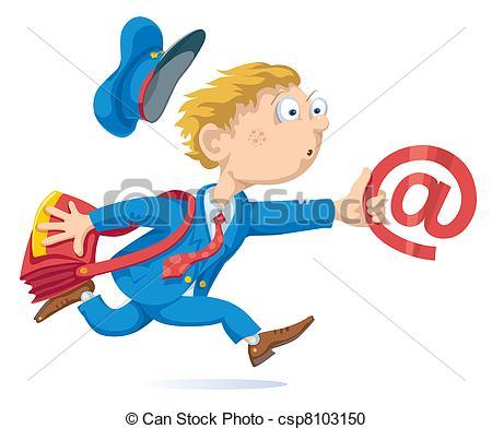 Clip Art Postman Bag Clipart.