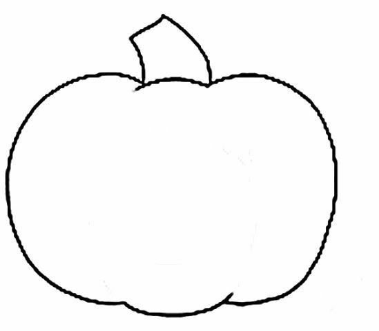 Small Pumpkin Black And White Clipart.