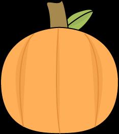 Small Pumpkin Clip Art Image.