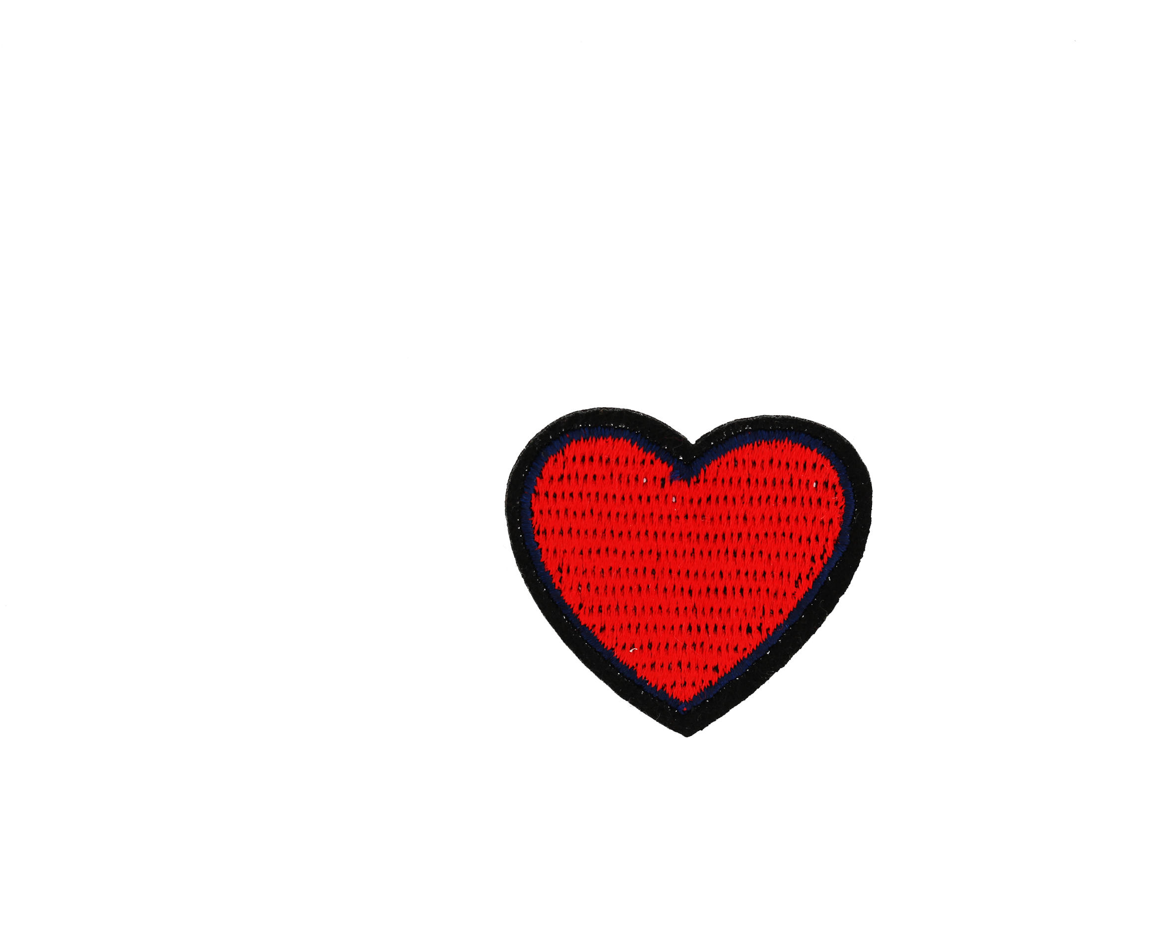 Small red heart Patch.