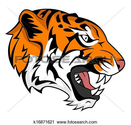 Clip Art of tiger face k4999869.