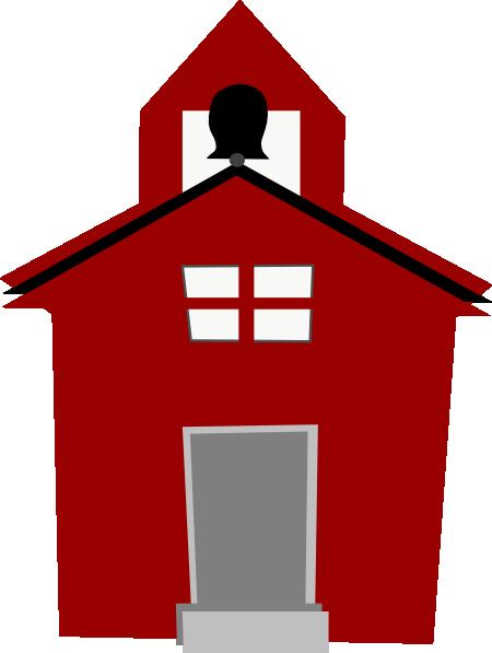 Red Schoolhouse Clip Art at Clker.com.