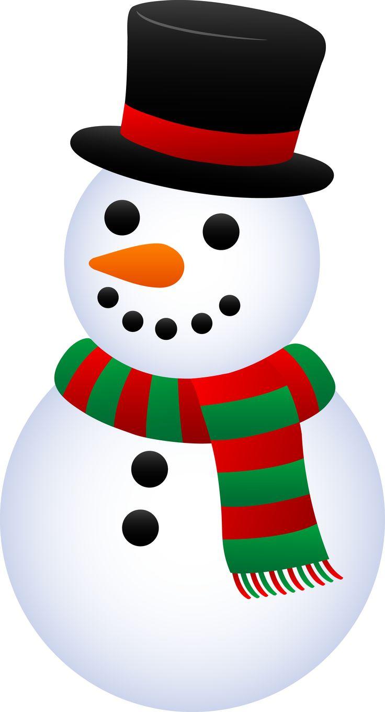 Small clipart snowman.