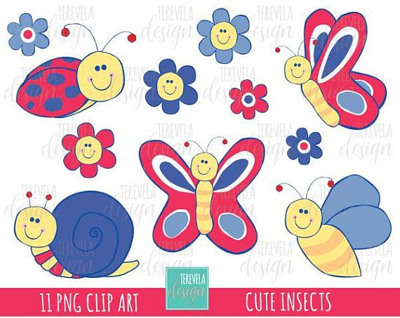 SPRING Clipart set includes 11 cute graphics PERSONAL AND.