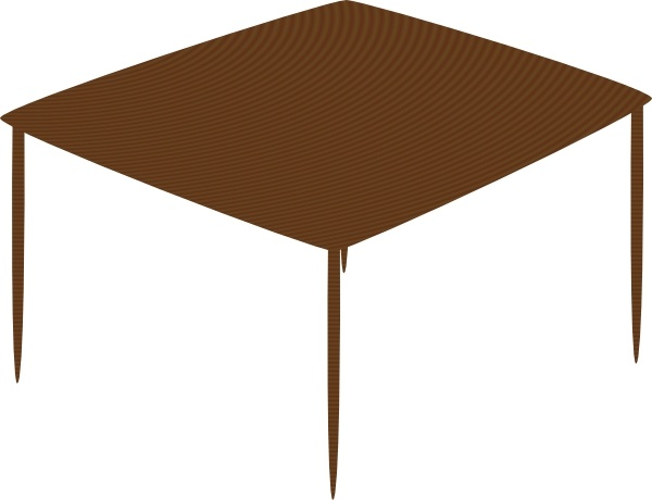 Small Square Table clip art Free vector in Open office.