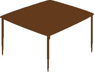 Small Square Table clip art Free Vector / 4Vector.