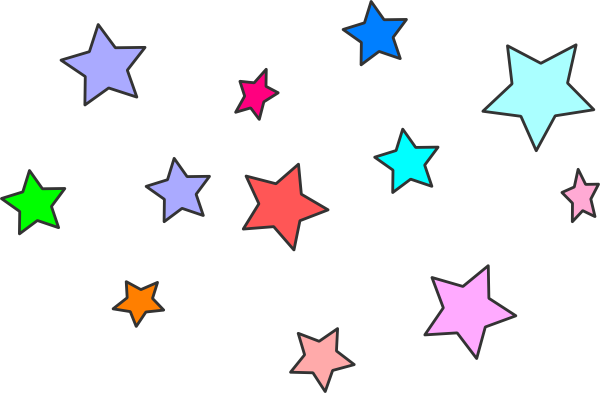 Star Line Clipart.