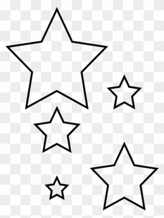 Star Garland Template Clipart.