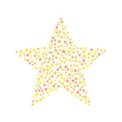 Star symbol consists of small stars Clipart Image.