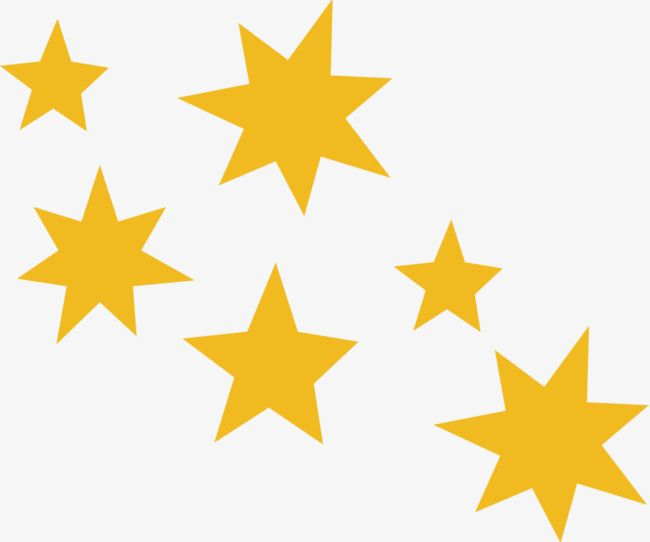 Small Fresh Yellow Stars PNG, Clipart, Air, Breath, Dig.