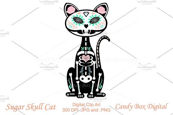 Sugar Skull Cat Clip Art ~ Illustrations on Creative Market.