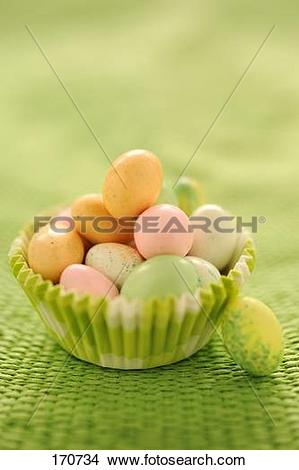 Stock Photo of Small sugar Easter eggs 170734.