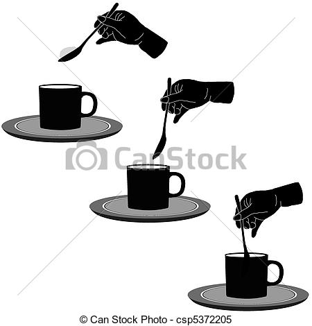 Clipart Vector of Coffee and sugar csp5372205.