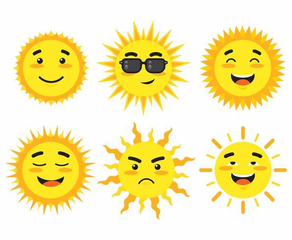 Sun Clipart Set.