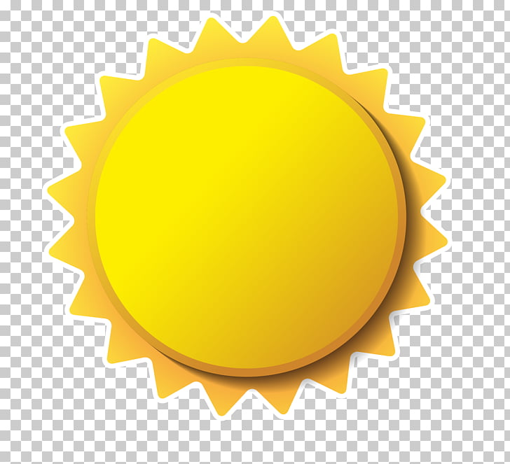 yellow stereo cartoon small sun PNG clipart.