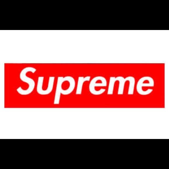 Supreme small box logo hoodie.