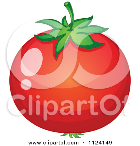 Clipart of a Ruled Tomato Frame.
