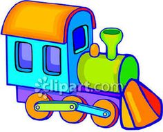 Toy Train Clipart.