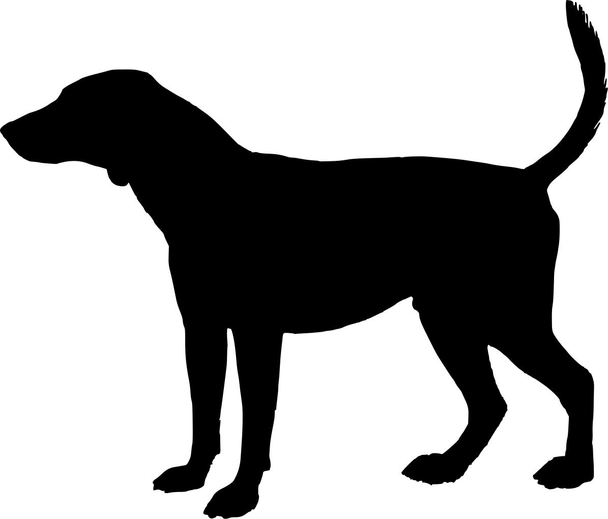 Dog Head Silhouette.