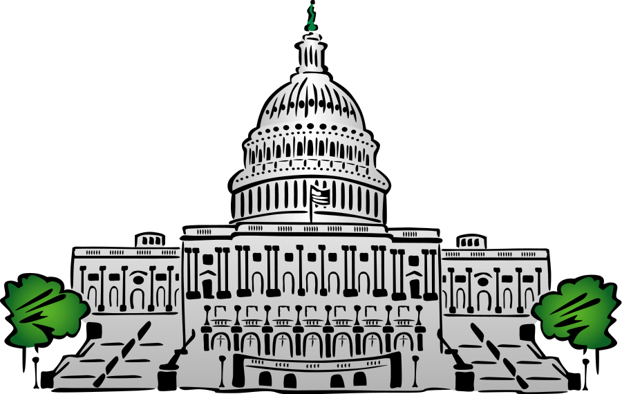 US Capitol Building small clipart 300pixel size, free design.