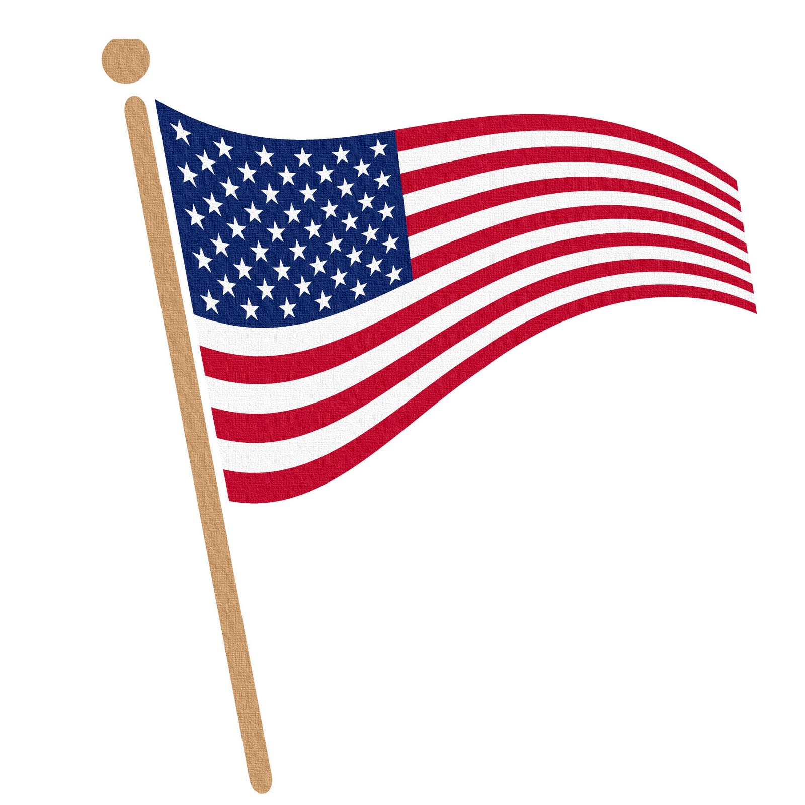 Small american flag clipart.