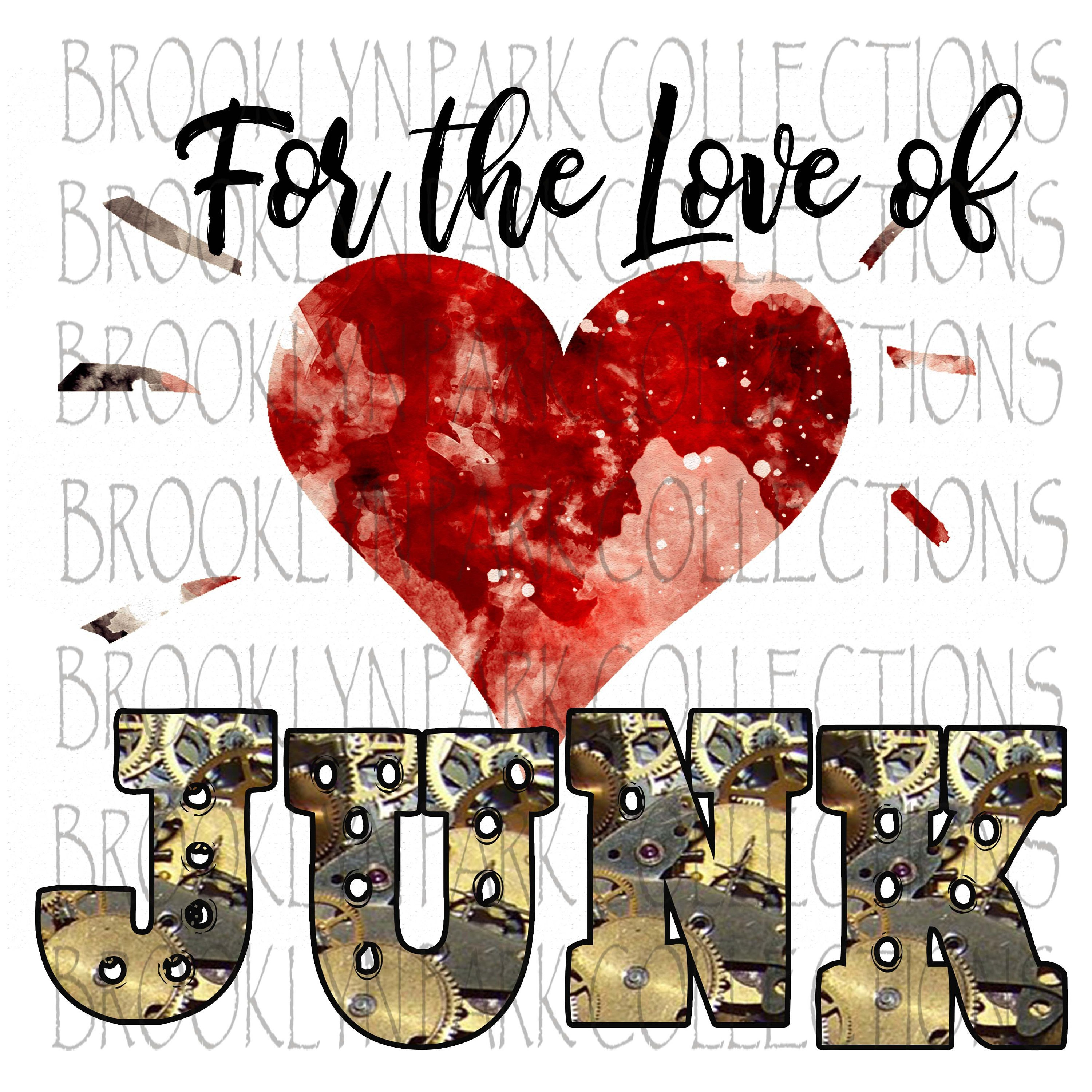 For the Love of JUNK Valentine Heart Clip Art.