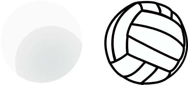 Free Black And White Volleyball, Download Free Clip Art.