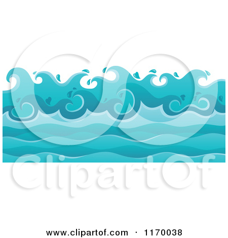 Small Waves Clip Art Ocean.