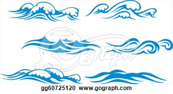 Small Waves Clip Art.