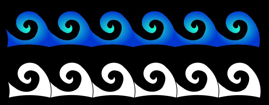 Waves SVG Vector file, vector clip art svg file.