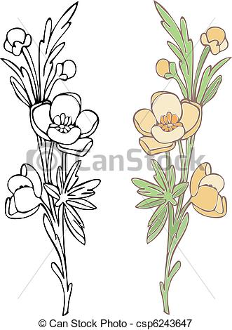 Vectors Illustration of Wildflower.
