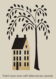 Weeping Willow Tree Wall Decal.
