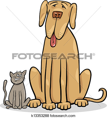 Big And Smaller Dog Clipart.