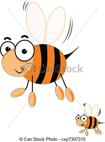 Clipart Vector of queen bee.